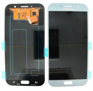 Дисплей Samsung A720 Galaxy A7 с сенсором Голубой/Blue оригинал , GH97-19723C