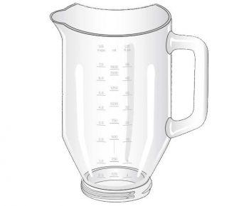 Чаша стеклянная 1600мл для блендера Braun 7322310584