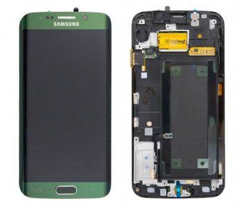 Дисплей Samsung G925 Galaxy S6 Edge с сенсором Green оригинал , GH97-17162E