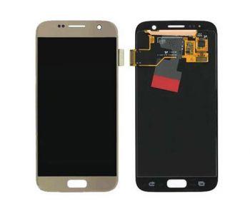 Дисплей Samsung G930 Galaxy S7 с сенсором Gold оригинал , GH97-18523C