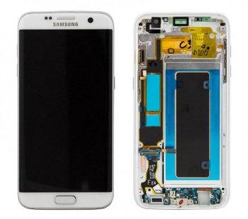 Дисплей Samsung G935 Galaxy S7 Edge с сенсором White оригинал , GH97-18533D