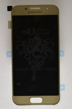 Дисплей Samsung A320 Galaxy A3 с сенсором Золотой/Gold оригинал , GH97-19732B