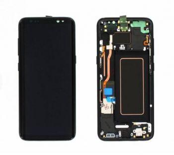 Дисплей Samsung G950 Galaxy S8 с сенсором Черный/Black оригинал , GH97-20457A