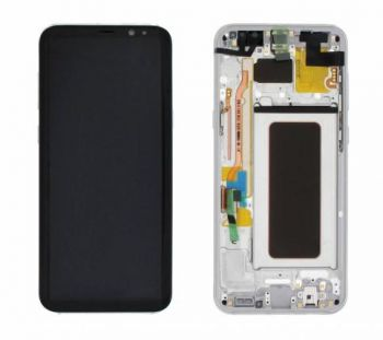 Дисплей Samsung G955 Galaxy S8 plus с сенсором Серебро/Silver оригинал , GH97-20470B