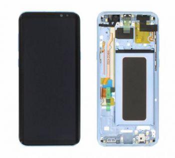Дисплей Samsung G955 Galaxy S8 plus с сенсором Голубой/Blue оригинал , GH97-20470D